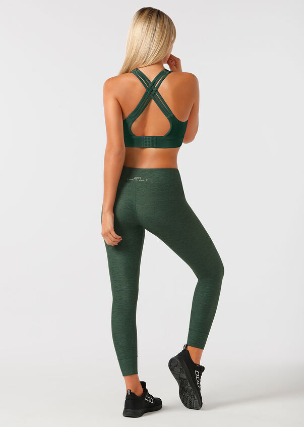 Flex Sports Bra, Bottle Green Marl, hi-res