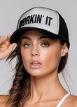 Trucker Hat, White/Black, hi-res