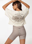First And Best Cropped Tee, Cream, hi-res