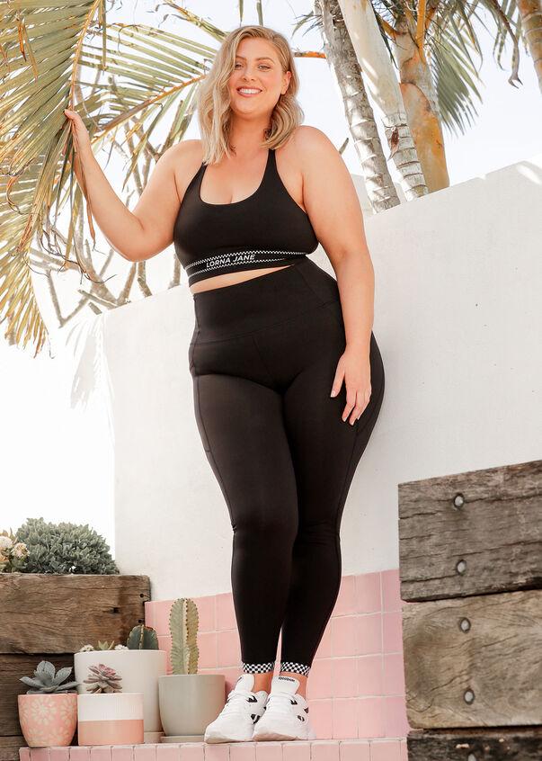 Checked Out Full Length Leggings, Black, hi-res