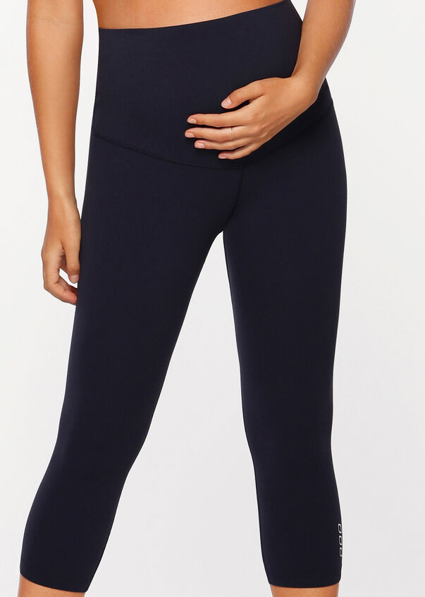 LJ Maternity 7/8 Tight, French Navy, hi-res
