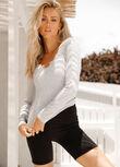 Serene Long Sleeve Top, Light Grey Marl, hi-res