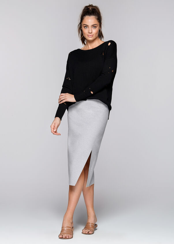 Athleisure Skirt, Light Grey Marl, hi-res